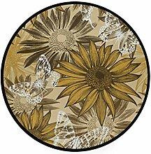 MONTOJ Teppich/Fußmatte mit Sonnenblumen und