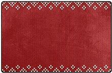 MONTOJ Teppich, klassisches Strickmuster, für