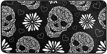 MONTOJ Teppich mit abstraktem Blumenmuster und