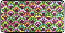 MONTOJ Teppich mit Buntem Muster, für drinnen und
