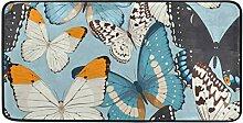 MONTOJ Teppich mit Buntem Schmetterlingsmuster,