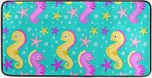 MONTOJ Teppich mit Buntem Seestern-Muster, für
