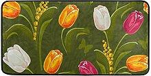 MONTOJ Teppich mit Buntem Tulpenblumen-Motiv, für