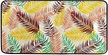 MONTOJ Teppich mit farbigem Palmenblatt-Muster,