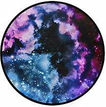 MONTOJ Teppich mit Galaxie-Muster, rund,