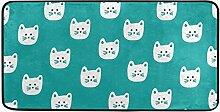 MONTOJ Teppich mit Katzengesicht, für Innen- und