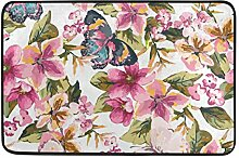 MONTOJ Teppich mit Schmetterlingsmotiv und