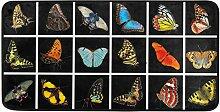 MONTOJ Teppich mit schönen bunten Schmetterlingen
