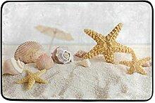 MONTOJ Teppich mit Seesternen, Muscheln, für