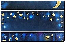 MONTOJ Teppich mit Sternen und Mond-Anhänger,