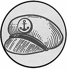 MONTOJ Teppich, rund, rutschfest, Marineblau, für