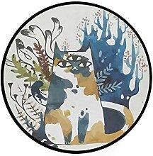 MONTOJ Tier-Teppich mit DREI Augen und Katze,