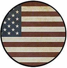 MONTOJ United State Teppich, rund, rutschfest,