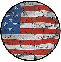 MONTOJ USA Teppich, rund, rutschfest, Fußmatte