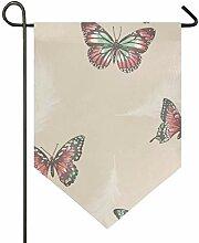 MONTOJ Vintage Schmetterling Muster Home Sweet