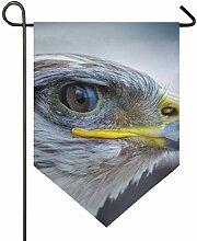 MONTOJ Vogeladler Home Sweet Home Garten Flagge
