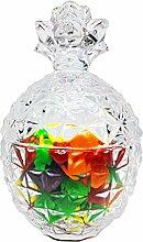 MonTon Bonbonniere, Glas mit Deckel (8,6 x 14,5 cm)