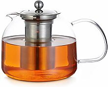 Monzana Teekanne Glas mit Siebeinsatz 1,5 L