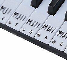 MOOCY Piano Aufkleber Abziehbarer Schlüssel