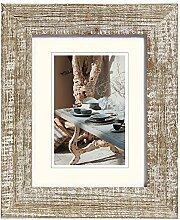 Mood Holzrahmen, 13x18 cm, kalkweiss