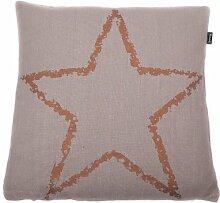 Mood Star Kissenhülle Farbe: Kupfer/Stonegrey