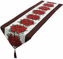 mookaitedecor Weihnachten Tischläufer, Tischtuch,