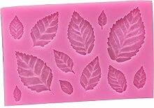 Moolila Kuchenform Silikon Fondant Form Blätter