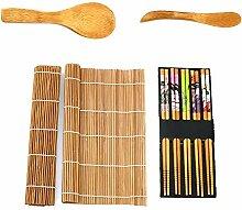 Moon Mystique Home Decor Sushi-Set, Bambus, bunt,