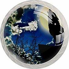 Moon Wolf Heulender Schrankknauf, Kommode,