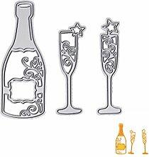 Moonbrid Weinglas Cutting Dies, Metall