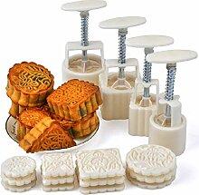 Mooncake Press 16Pcs / set Blume Mooncake Mold DIY