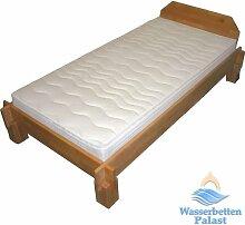 Moonlight Wellness Wasserbett Wasserbettmatratze für Lattenrost - Bezug Medicott, 90% beruhigt, Größe 140x200cm