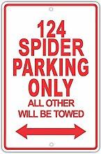 Moonluna FIAT 124 Spider Parking Only All Other