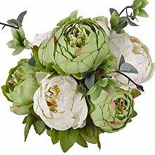 Moonvvin Vintage Pfingstrose künstliche Blumen,