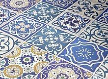 Moonwallstickers Talavera Traditionell Blau