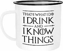 Moonworks Emaille Tasse Becher Kaffeetasse Spruch