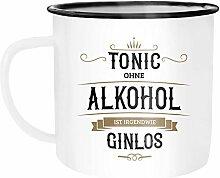 Moonworks Emaille Tasse Becher Tonic ohne Alkohol