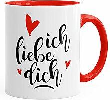 MoonWorks Geschenk-Tasse Ich Liebe Dich Herz Liebe Geschenkidee Kaffee-Tasse Freund Freundin Rot Unisize