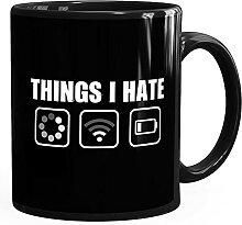 MoonWorks® Kaffee-Tasse mit Spruch Things I hate