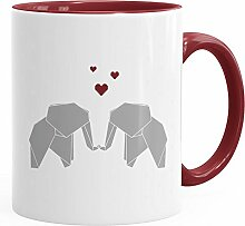 MoonWorks Kaffee-Tasse Origami Elefanten Pärchen