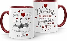 Moonworks® Kaffee-Tasse Panda Ich Deins Du Meins