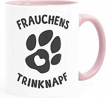 MoonWorks® Kaffee-Tasse Spruch Frauchens