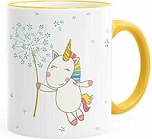 MoonWorks Tasse Einhorn mit Pusteblume Kaffeetasse