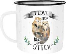 MoonWorks Tasse Emaille Tasse Becher Otter