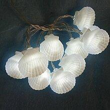 MOOUK LED-Lichterkette mit Muschel-Motiv,