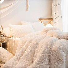 MooWoo 1 x weicher Flanell-Bettbezug, Kunstfell,