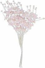 Mopec Blumenstrauß mit Perlen, Rosa, 12 Stück,