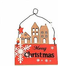 mopec NW17–Dekoration aus Holz von Häusern Merry Christmas, Ro