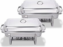 Mophorn Chafing Dish 65 mm 8tlg Chafing Dish Set