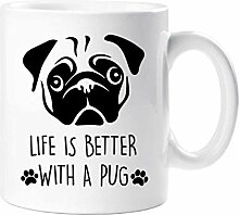 Mops Becher Life Is Better With A Mops Haustier